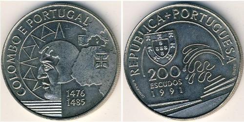 200 Эскудо Португальская Республика (1975 - ) Никель/Медь