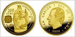 200 Euro Regno di Spagna (1976 - ) Oro Juan Carlos I (1938 - )