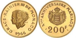 200 Franc Principato di Monaco Oro