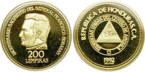 200 Lempira Honduras Gold