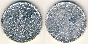 200 Lev Royaume de Roumanie (1881-1947) Argent Michel Ier de Roumanie (1927-)