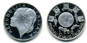 200 Lira Italien Silber