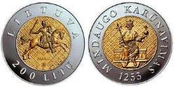 200 Litas Litauen (1991 - ) Gold/Silber
