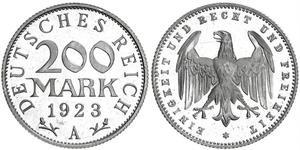 200 Mark République de Weimar (1918-1933) Aluminium