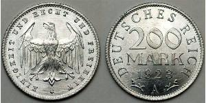 200 Mark Weimar Republic (1918-1933) Aluminium