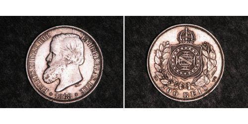 200 Reis Brasile Argento