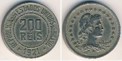 200 Reis Brasilien Silber