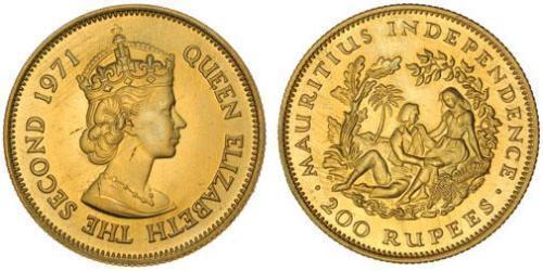 200 Rupee Mauricio Oro Isabel II (1926-)