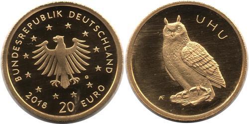 20 Євро Федеративна Республіка Німеччина (1990 - ) Золото