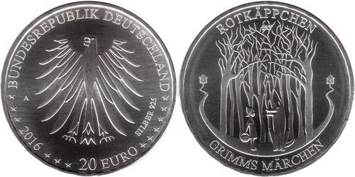20 Євро Федеративна Республіка Німеччина (1990 - ) Срібло
