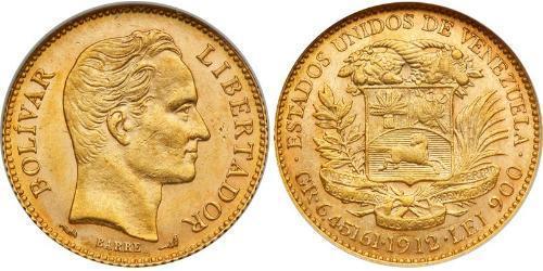 20 Боливар Венесуэла Золото