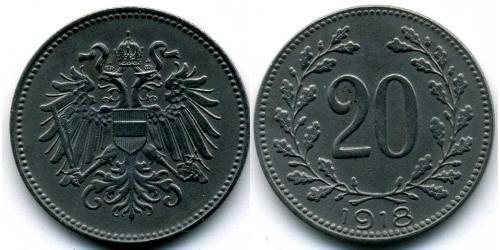 20 Гелер Австро-Угорщина (1867-1918) Залізо