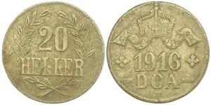 20 Гелер Німецька Східна Африка (1885-1919) Мідь