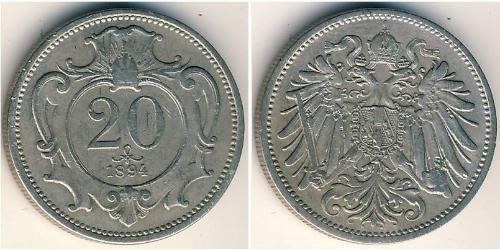 20 Гелер Австро-Угорщина (1867-1918) Нікель