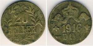 20 Геллер Германская Восточная Африка (1885-1919) Медь