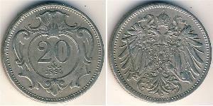 20 Геллер Австро-Венгрия (1867-1918) Никель