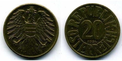 20 Грош Оккупированная Австрия (1945-1955) Алюминий/Бронза