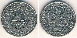 20 Грош Польская Республика (1918 - 1939) Никель/Медь