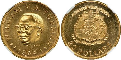 20 Долар Ліберія Золото William Tubman