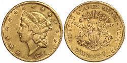 20 Доллар США (1776 - ) Золото
