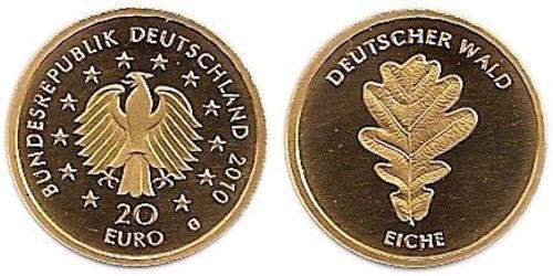 20 Евро Федеративная Республика Германия (1990 - ) Золото
