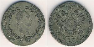 20 Крейцер Австрийская империя (1804-1867) Серебро Francis II, Holy Roman Emperor (1768 - 1835)