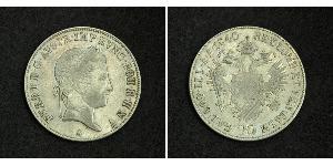 20 Крейцер Австрийская империя (1804-1867) Серебро Ferdinand I of Austria (1793 - 1875)