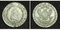 20 Крейцер Австрійська імперія (1804-1867) Срібло Francis II, Holy Roman Emperor (1768 - 1835)