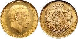 20 Крона Дания Золото Кристиан X (король Дании) (1870 - 1947)