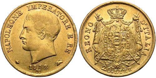 20 Лира Королевство Италия (наполеоновское) (1805–1814) Золото Наполеон I(1769 - 1821)