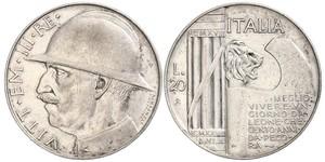 20 Ліра Kingdom of Italy (1861-1946)  Виктор Эммануил III (1869 - 1947)