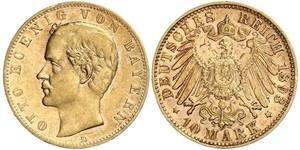 20 Марка Королевство Бавария (1806 - 1918) Золото Отто I (король Баварии)(1848 – 1916)