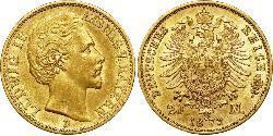 20 Марка Королівство Баварія (1806 - 1918) Золото Людвиг I (король Баварії)(1786 – 1868)