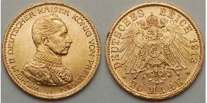 20 Марка Німеччина Золото
