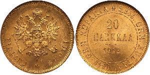 20 Марка Російська імперія (1720-1917) / Велике князівство Фінляндське (1809 - 1917) Золото Олександр III (1845 -1894)