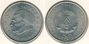 20 Марка Німецька Демократична Республіка (1949-1990) Нікель/Мідь Вільгельм Пік