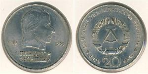20 Марка Німецька Демократична Республіка (1949-1990) Нікель/Мідь