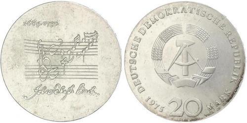 20 Марка Німецька Демократична Республіка (1949-1990) Срібло