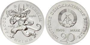 20 Марка Германская Демократическая Республика (1949-1990)
