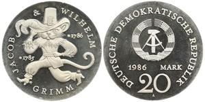 20 Марка Німецька Демократична Республіка (1949-1990)