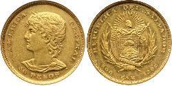 20 Песо Сальвадор Золото