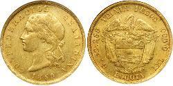 20 Песо Granadine Confederation (1858 - 1863) Золото