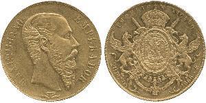 20 Песо Second Mexican Empire (1864 - 1867) Золото Maximilian I of Mexico (1832 - 1867)