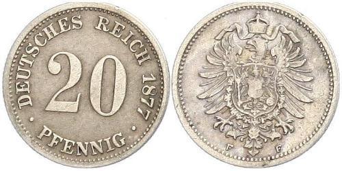 20 Пфеніг Німеччина Срібло Wilhelm I, German Emperor (1797-1888)