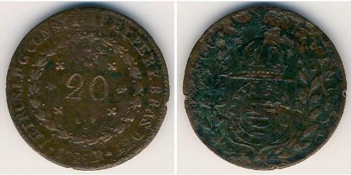 20 Рейс Бразильская империя (1822-1889) Медь