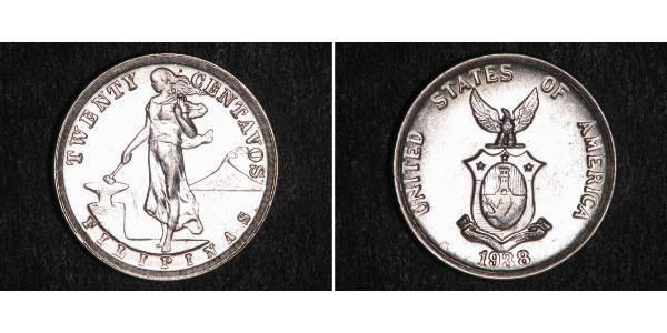 20 Сентаво Філіппіни Срібло
