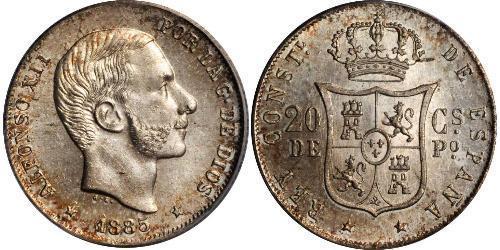20 Сентимо Филиппины Серебро