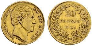 20 Франк Бельгия Золото Леопольд I (король Бельгии) (1790-1865)