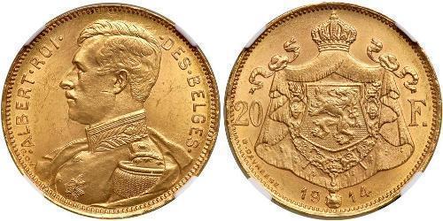 20 Франк Бельгія Золото