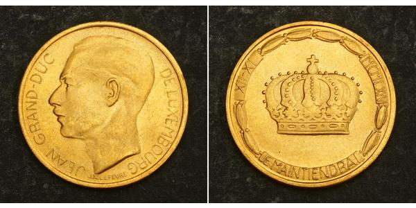 20 Франк Люксембург Золото Жан (великий герцог Люксембургу) (1921 - )